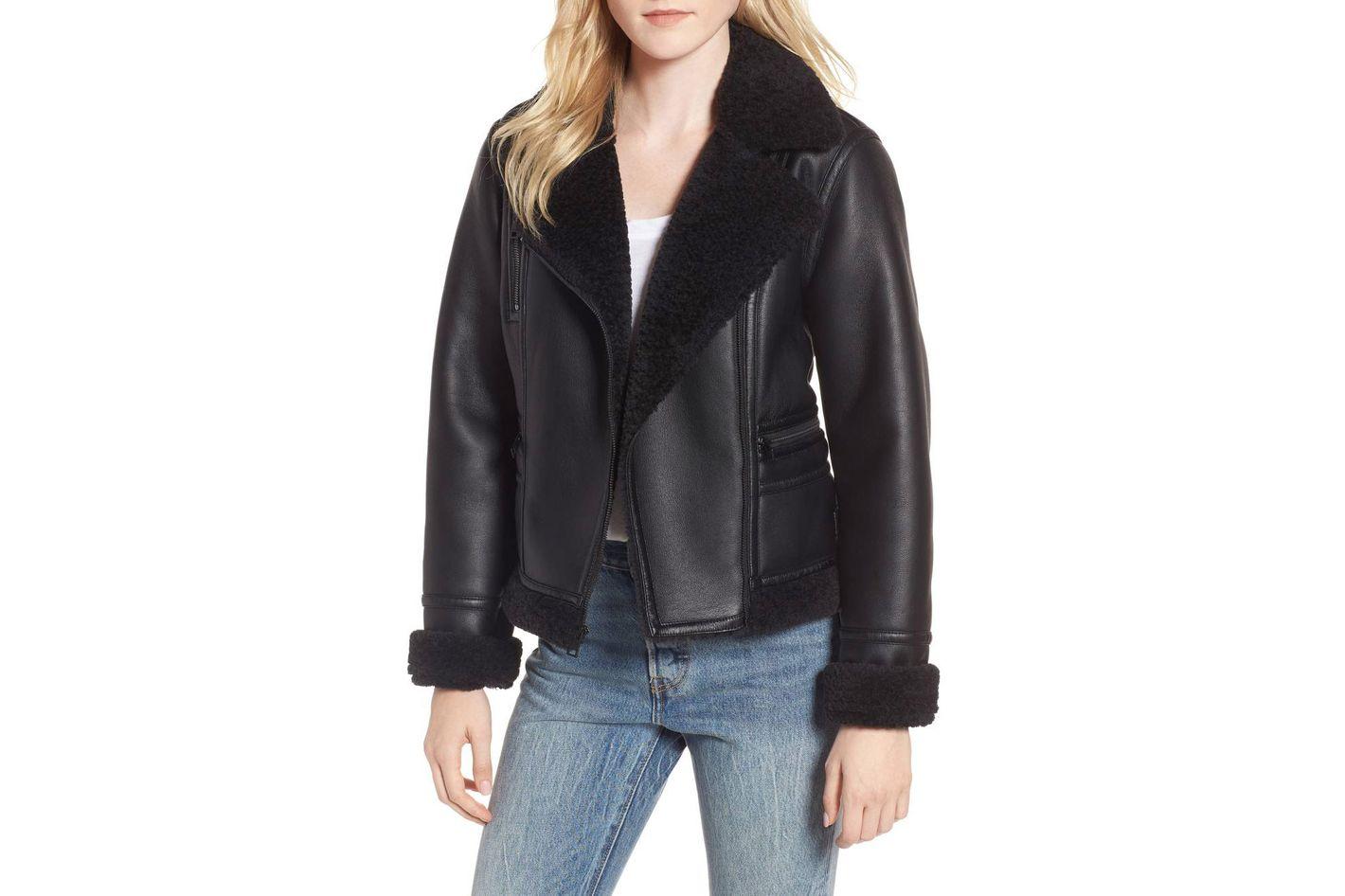 LEVI'S Faux Shearling Moto Jacket