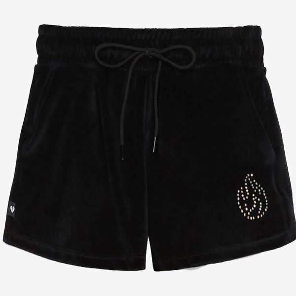 Bershka Velvet Shorts