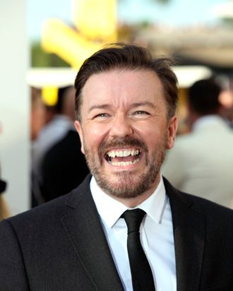 Ricky Gervais attends The 2012 Arqiva British Academy Television Awards at the Royal Festival Hall on May 27, 2012 in London, England.