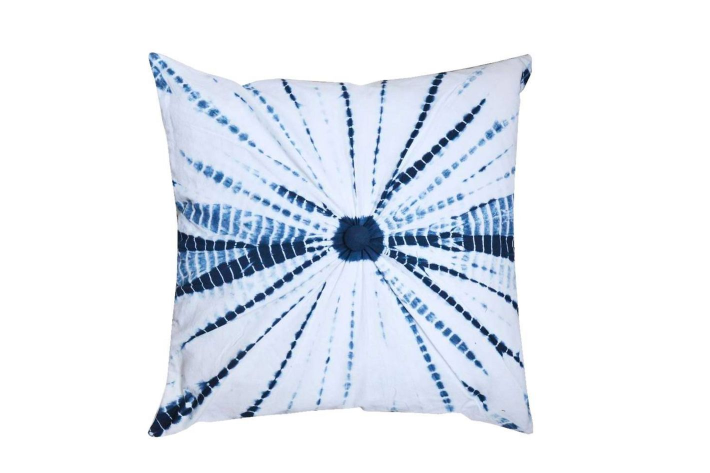 Blair 20 x 20 White-blue Centre Knot Pillow