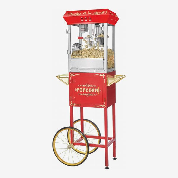 Great Northern Popcorn Red Foundation Popcorn Popper Machine Cart