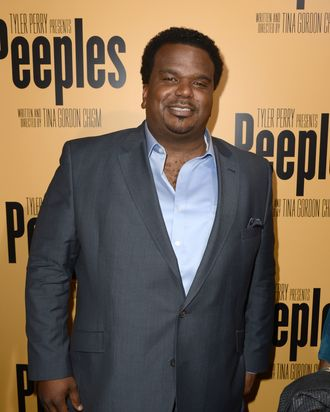 HOLLYWOOD, CA - MAY 08: Actor Craig Robinson arrives at the premiere of