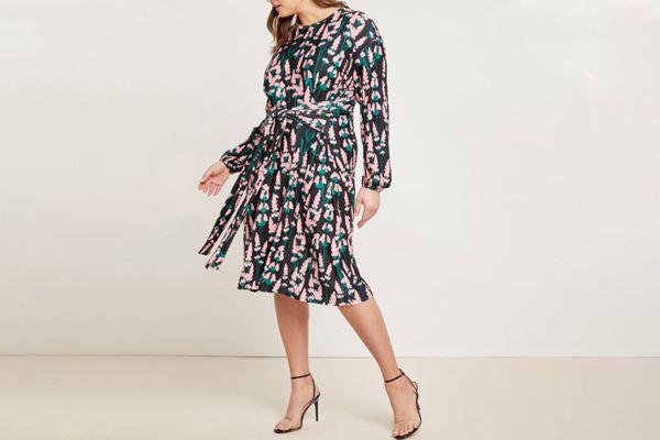 Eloquii Tie-Front Easy Dress
