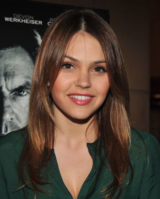 HOLLYWOOD, CA - JANUARY 04: Actress Aimee Teegarden attends the premiere of