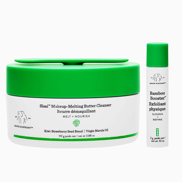 Drunk Elephant Slaai Makeup-Melting Butter Cleanser and Bamboo Booster