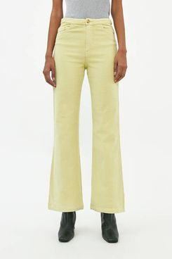 Paloma Wool Milton Cord Pant in Lime