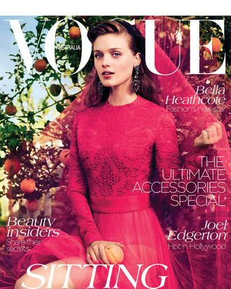 Bella Heathcote for <em>Vogue</em> Australia.