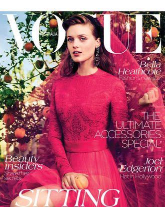 Bella Heathcote for <em>Vogue</em> Australia.