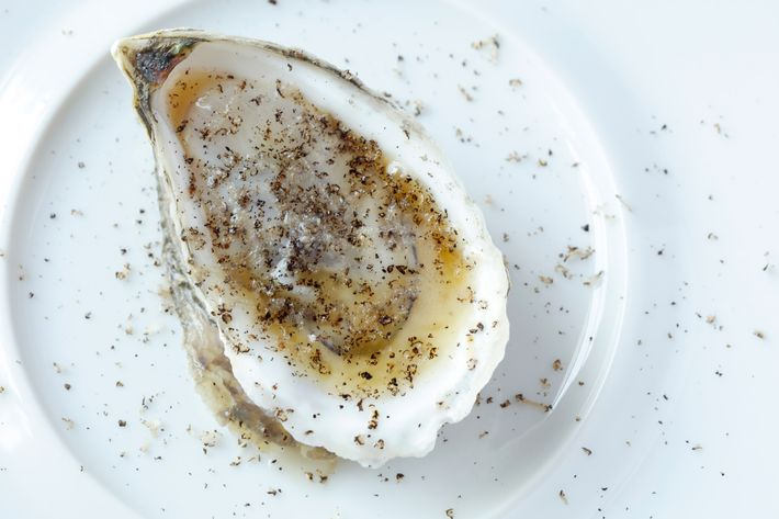 Oyster with Riesling sauce.