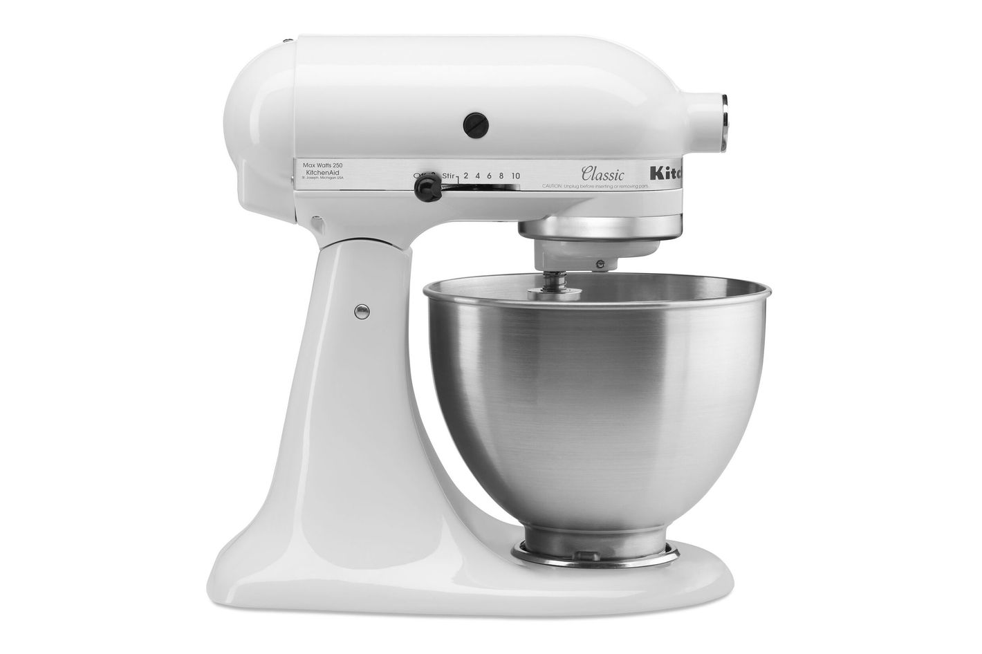 KitchenAid Classic Series 4.5-Quart Tilt-Head Stand Mixer, White