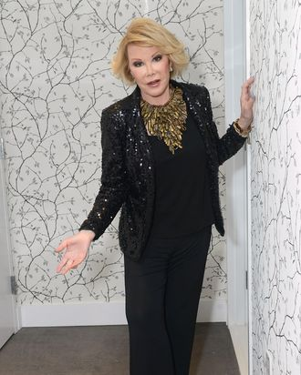 WESTBURY, NY - MAY 20: Joan Rivers attends the 2014 Larger Than Life Gala at Old Westbury Hebrew Congregation on May 20, 2014 in Westbury, New York. (Photo by Shahar Azran/Getty Images)