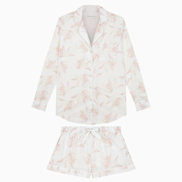 Signature Pyjama Set Deia Print White/Pink