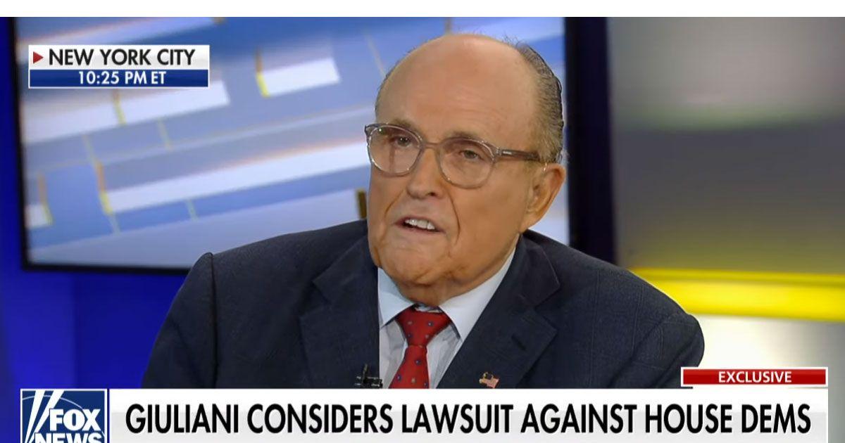 Rudy Giuliani Wants to Sue Democrats for Investigating Trump