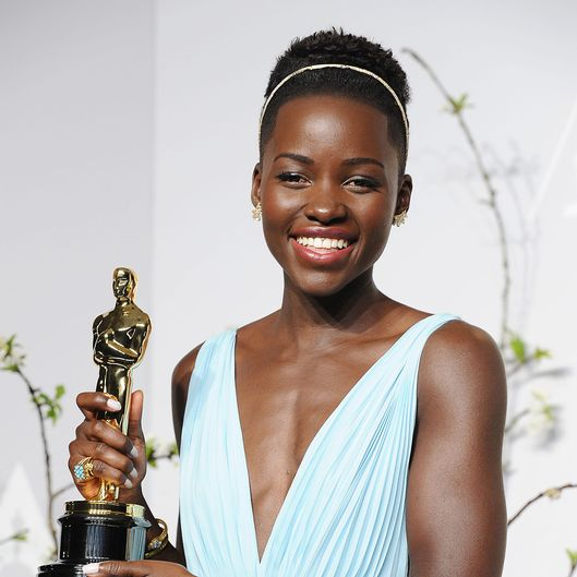 HOLLYWOOD, CA - MARCH 02:  Actress Lupita Nyong'o poses in the press room at the 86th annual Academy Awards at Dolby Theatre on March 2, 2014 in Hollywood, California.  (Photo by Jason LaVeris/WireImage)