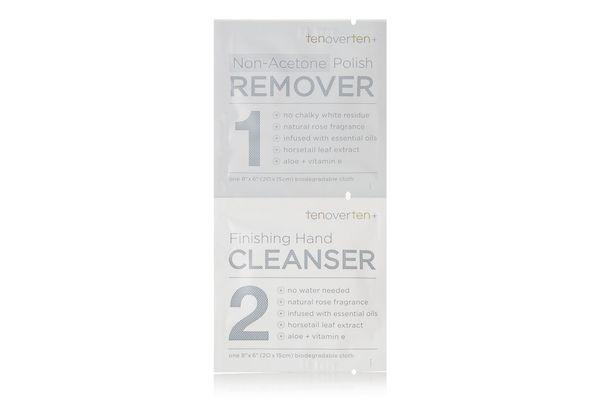 TENOVERTEN Non-Acetone Polish Remover + Finishing Hand Cleanser Cloths