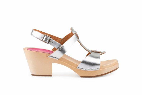 Swedish Hasbeens Greek Sandal, Silver