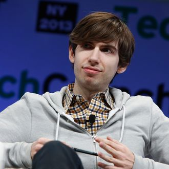 NEW YORK, NY - MAY 01: David Karp of Tumblr speaks onstage at TechCrunch Disrupt NY 2013 at The Manhattan Center on May 1, 2013 in New York City. (Photo by Brian Ach/Getty Images for TechCrunch)