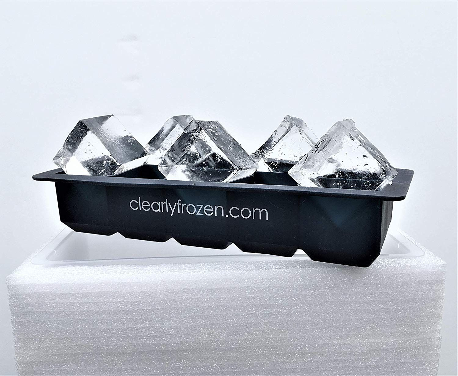 ClearlyFrozen High Capacity Home Clear Ice Cube Tray/Ice Cube Maker