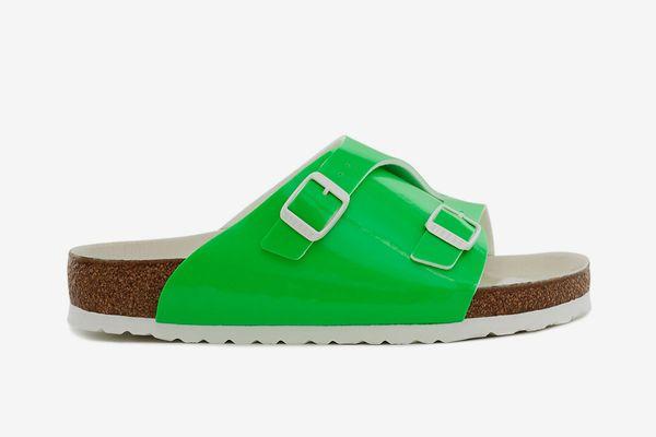 Fluorescent Zurich Sandal in green