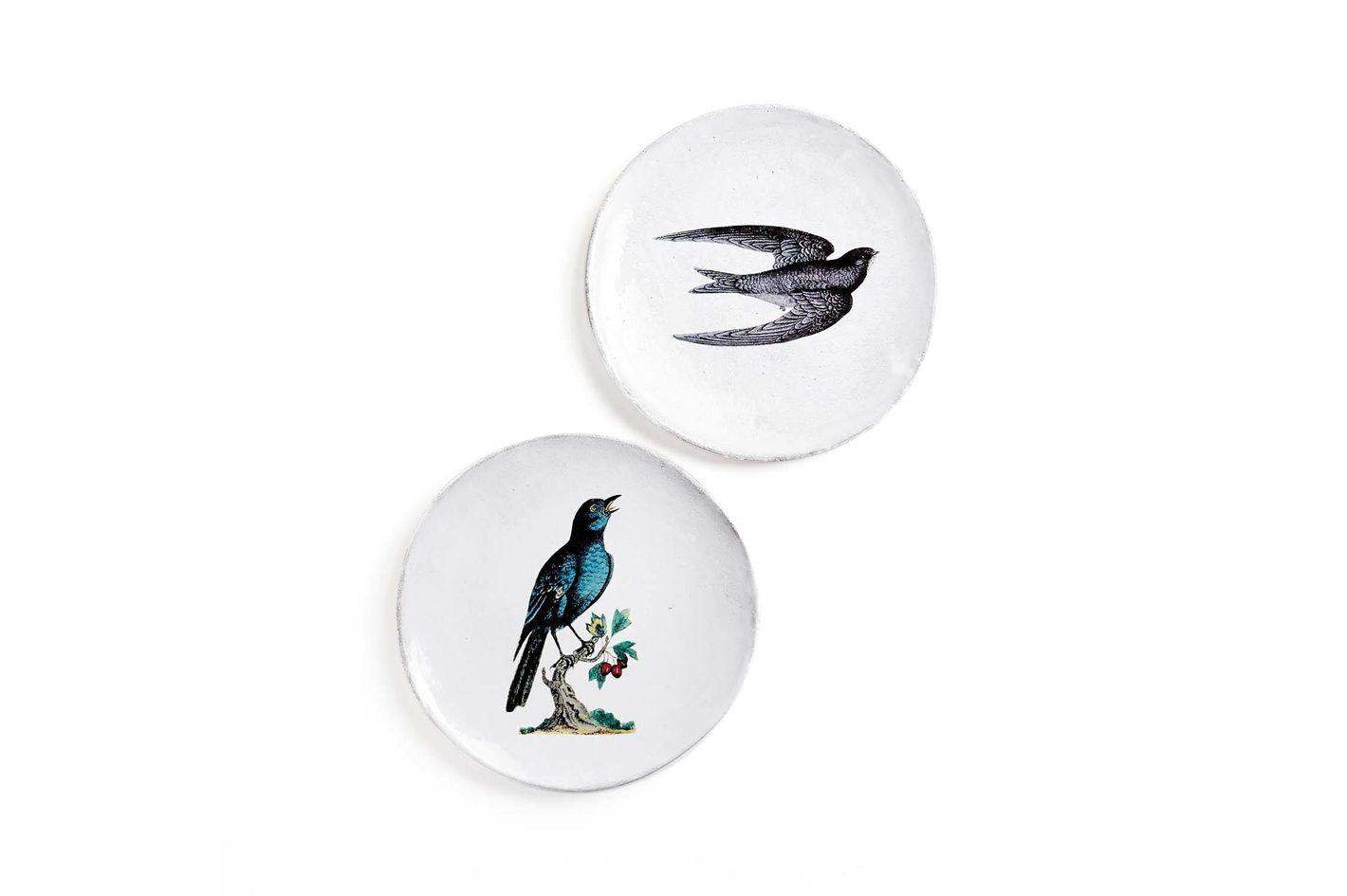John Derian for Astier de Villatte Bird Plate