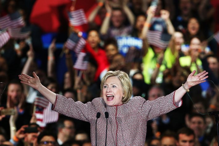 Hillary Clinton Holds New York Primary Night Gathering In Manhattan