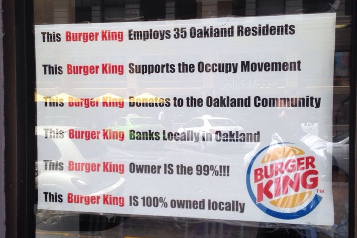 """This Burger King Owner IS the 99%!!!"""