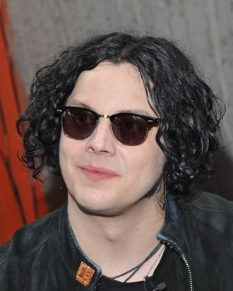 NEW YORK, NY - JUNE 24: Musician Jack White signs autographs for fans to promote the new record