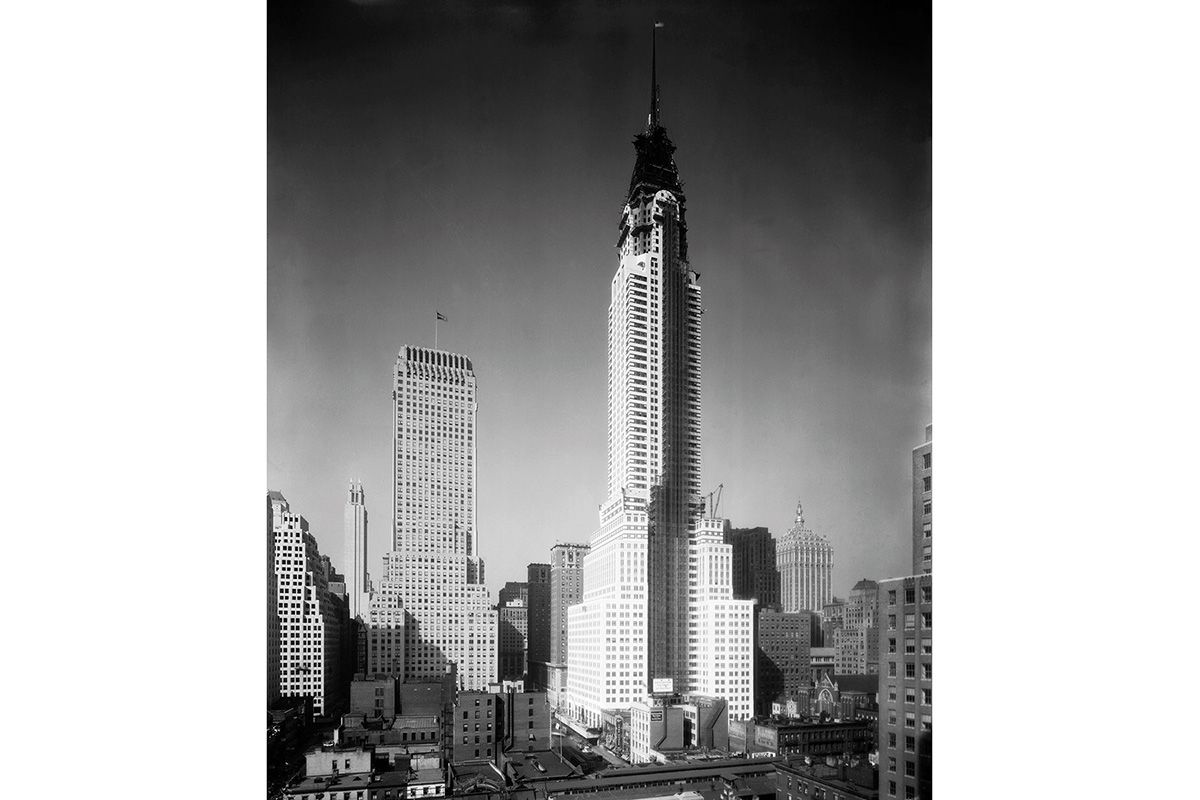"<span class=""clay-designed kiln-phrase"">1929</span>The Chrysler Building, while still under construction. It was completed in 1930."