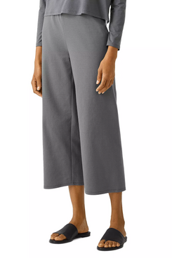 Eileen Fisher High Waisted Straight Cropped Pants