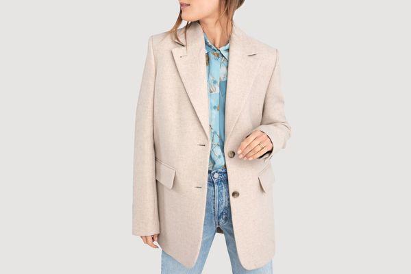 Wool Blend Oversized Blazer