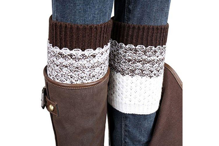Coromose Jacquard Knitted Cuffs Leg Warmers