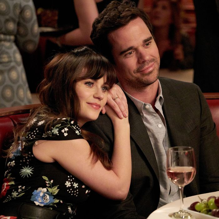 NEW GIRL: L-R: Zooey Deschanel and guest star David Walton in the