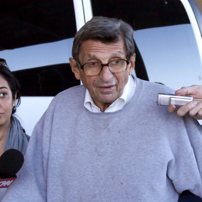 Former Penn State Head Coach Joe Paterno. Photo: Rob Carr/2011 Getty Images