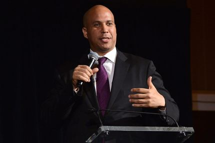 New Jersey Senator-elect Cory Booker speaks onstage at the third annual Pencils of Promise gala at Guastavino's on October 24, 2013 in New York City.