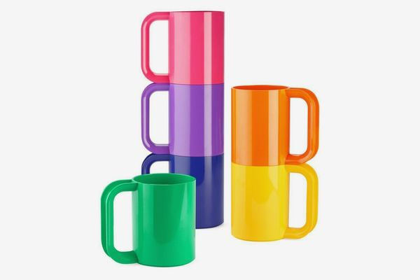 Heller Dinnerware Vignelli Rainbow Mug — Set of 6