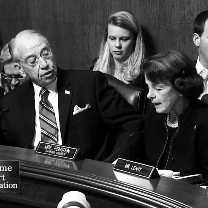 senator feinstein interrupted during kavanaugh hearing senator feinstein interrupted during