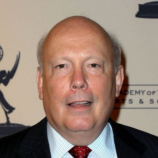 Writer Julian Fellowes arrives at The Academy Of Television Arts & Sciences Writer Nominees' 64th Primetime Emmy Awards Reception at Academy of Television Arts & Sciences on September 20, 2012 in North Hollywood, California.
