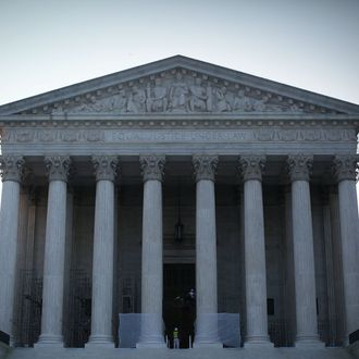 An exterior view of the U.S. Supreme Court is seen on June 21, 2012 in Washington, DC. The Supreme Court is expected to hand down its ruling on the Healthcare Reform Law before the end of its 2011-2012 term.
