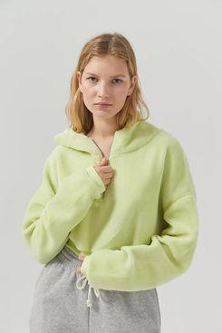 UO Bliss Fuzzy Fleece Hoodie Sweatshirt
