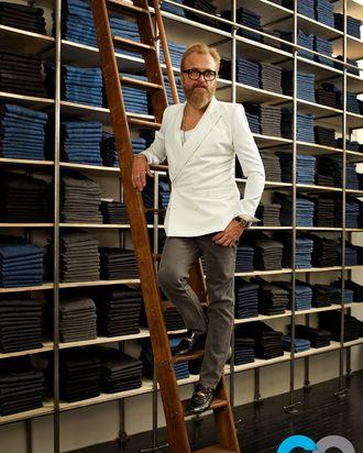 BLK DNM's Jonah Lindeberg, courtesy of Amanda Marsalis for <em>GQ</em>.