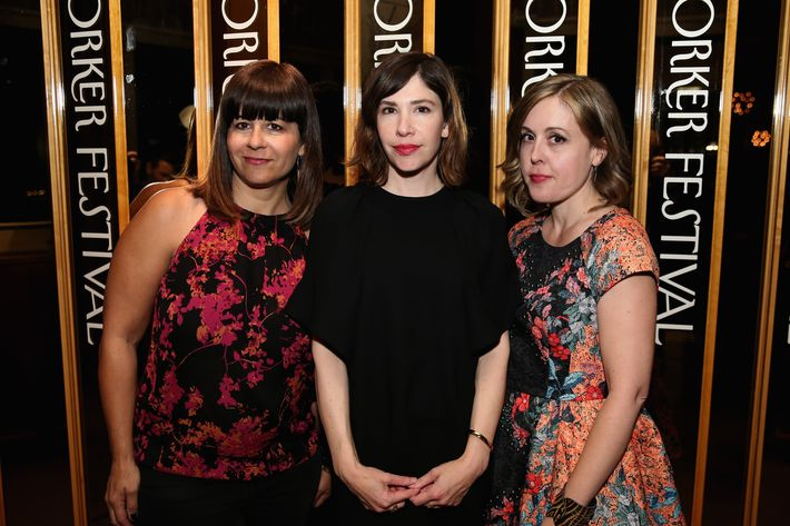 Janet Weiss, Carrie Brownstein and Corin Tucker of the band Sleater-Kinney.