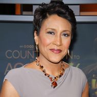 "Robin Roberts attends the revealing of the ""Oscar's Red Carpet Live"" hosts on ""Good Morning America"" at ABC Studios on February 13, 2012 in New York City."