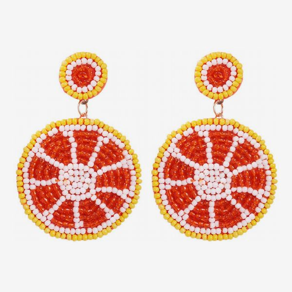 Idealway Statement Orange Earrings