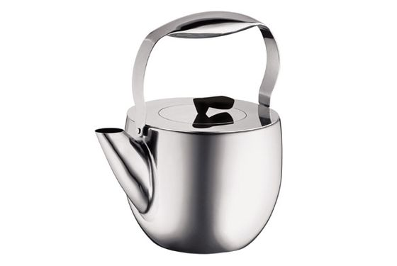 "Any kitchen will instantly feel sleeker with this Bodum tea kettle, which also employs a French-press-like mechanism inside for easy, one-vessel tea making. Wrap it up with a tin or two of high-end tea to make it one of their favorite gifts of the year. <a href=""http://bodum.bodum.com/us/en-us/shop/detail/11496-16/"">Bodum Tea Press</a>, $80"