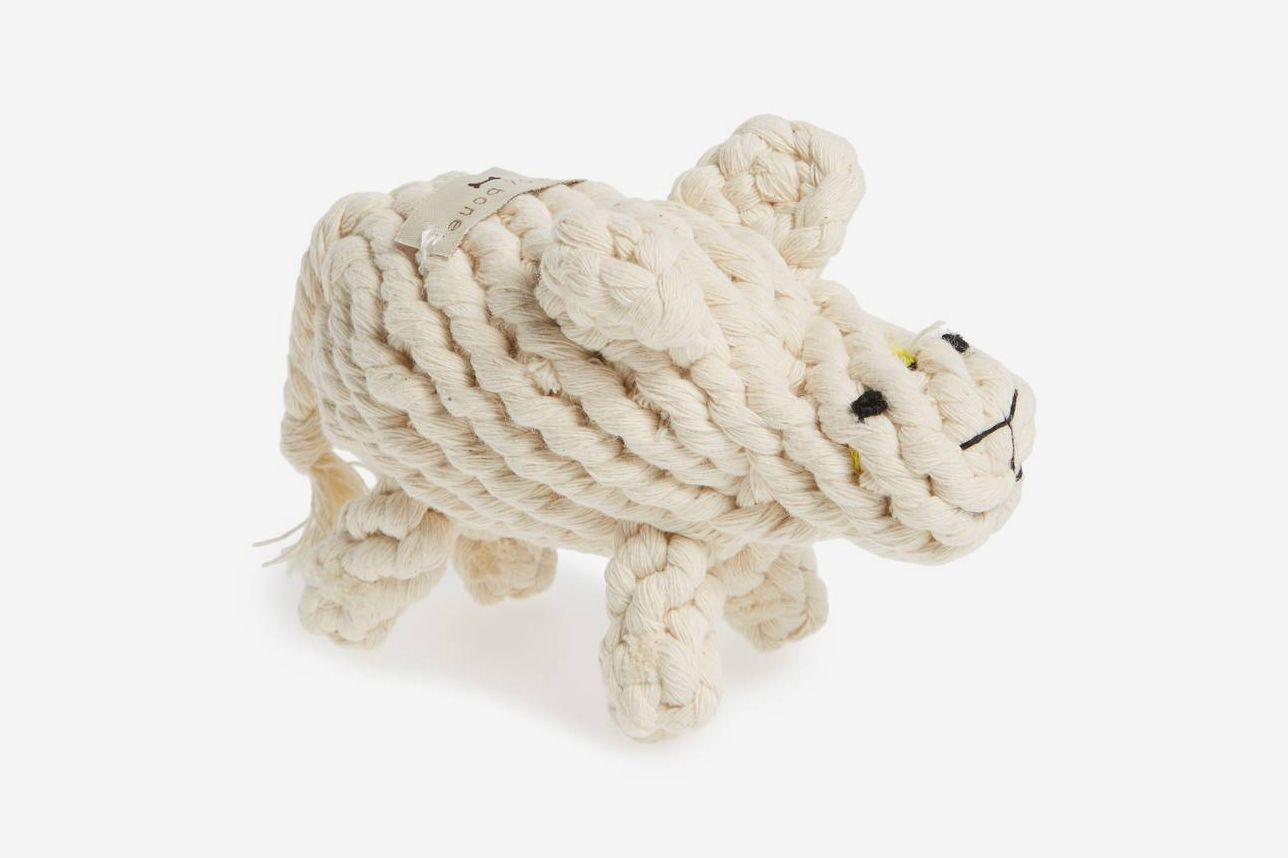 Dolly White Sheep Rope Dog Toy