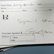 Doctor's prescription slip
