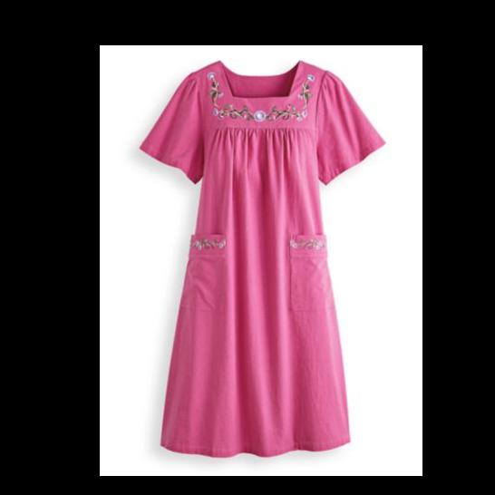 Blair Pull-On Cotton Patio Dress