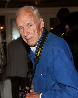 NEW YORK, NY - SEPTEMBER 11: Photographer Bill Cunningham attends the Thakoon Spring 2012 fashion show during Mercedes-Benz Fashion Week at the Grand Ballroom at The Plaza Hotel on September 11, 2011 in New York City. (Photo by Chelsea Lauren/Getty Images)