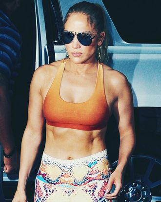 Jennifer Lopez and her abs.