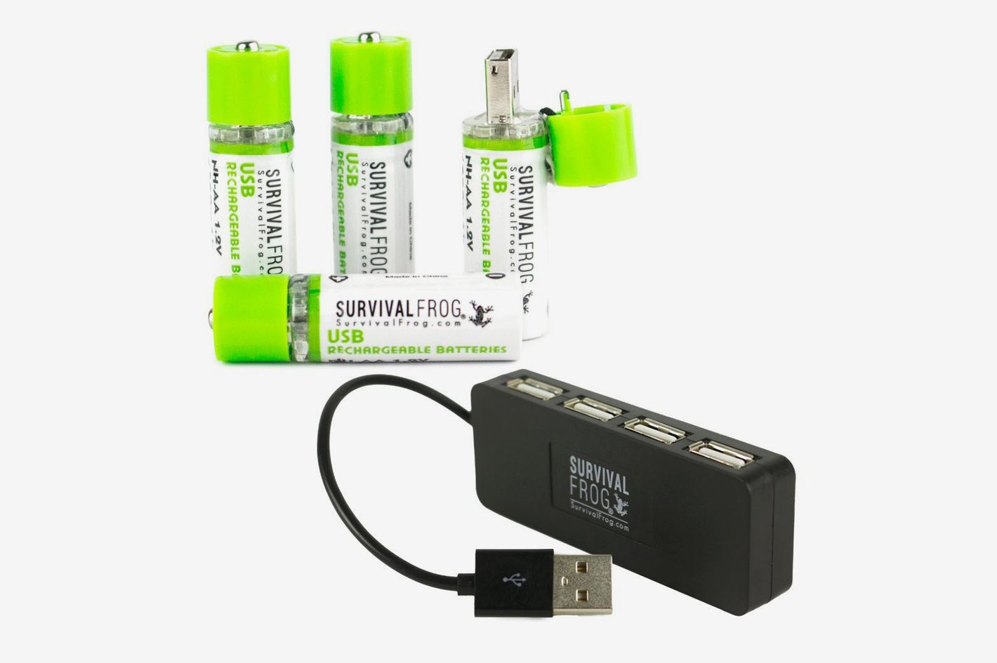 Survival Frog EasyPower USB AA Rechargeable Batteries (4-Pack)